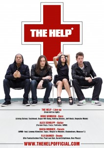 THE HELP Band-Foto (v.l.n.r. Doug Wimbish, Alex Scholpp, Dacia Bridges, Flo Dauner)